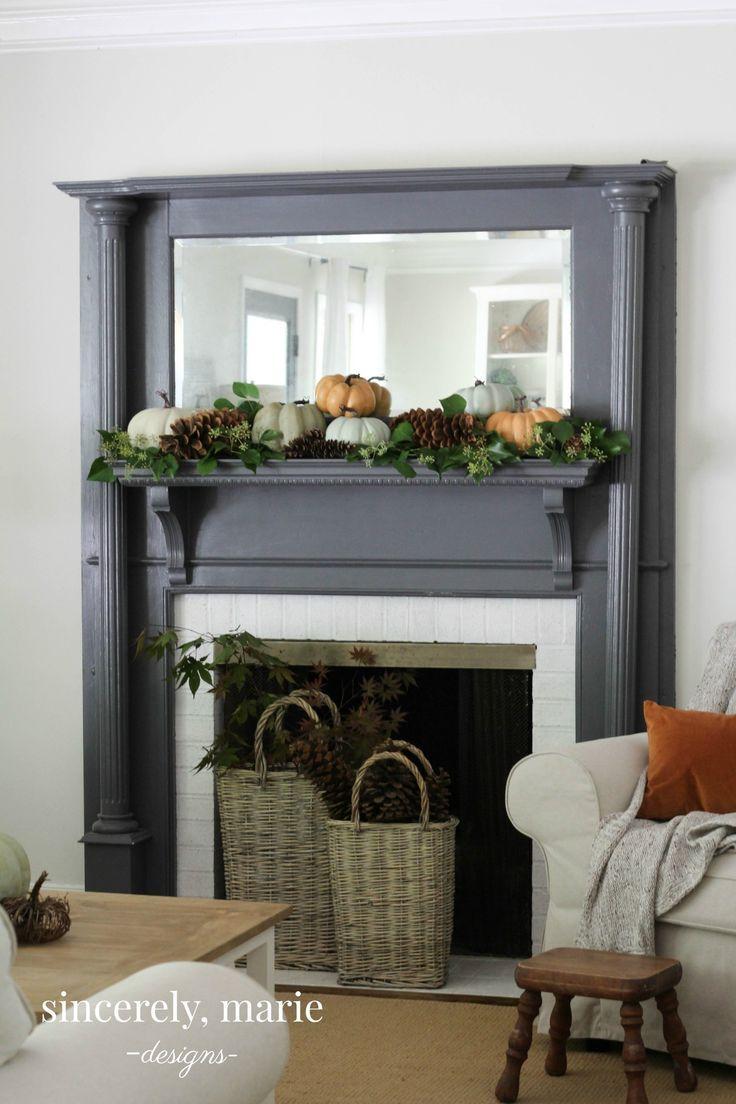 Fall Fireplace Mantel Decorating Ideas: Best 25+ Fall Fireplace Mantel Ideas On Pinterest