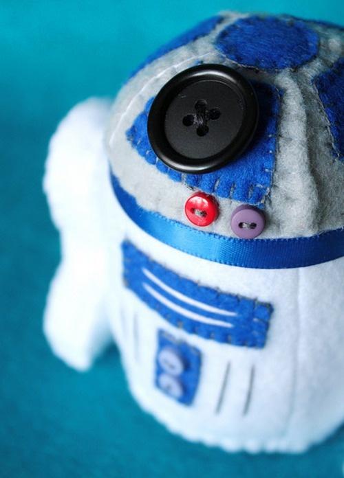 R2D2 in felt - starwars plush