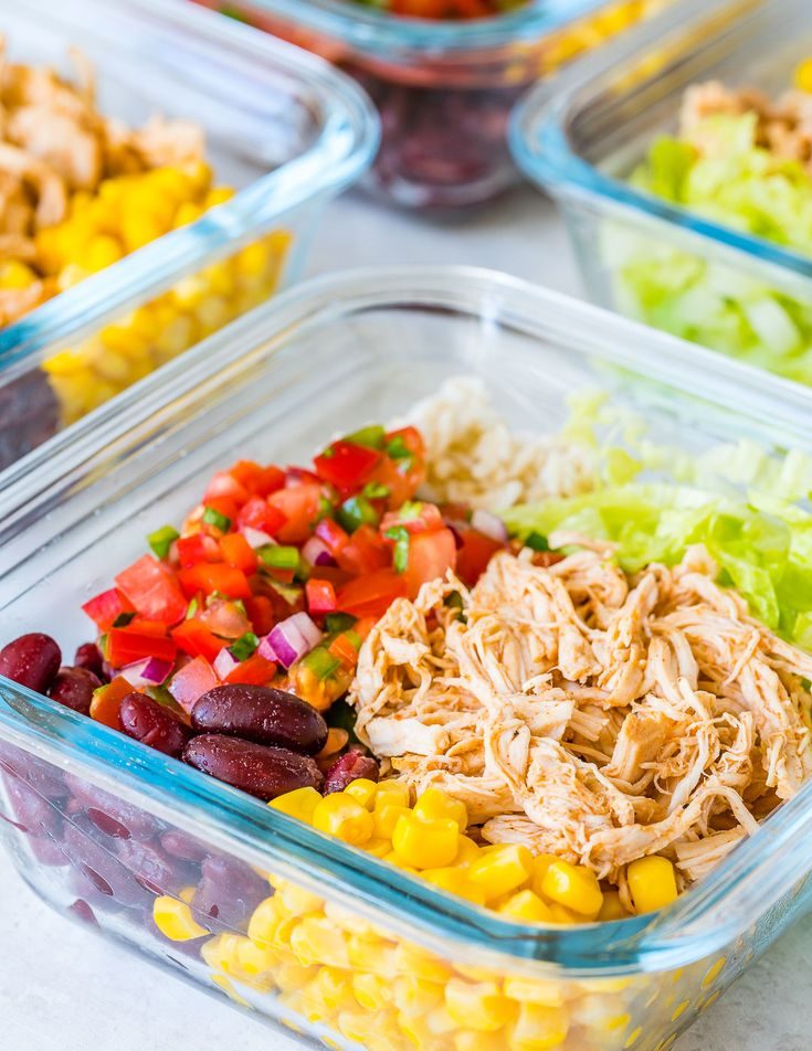 Crockpot Chicken Burrito Bowls for Clean Eating Meal Prep Win! - Clean Food Crush