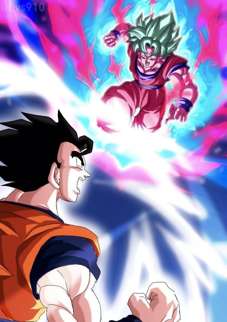 Goku Ssj Blue Kaioken Vs Gohan Anime Dragon Ball Dragon Ball Z Dragon Ball Super