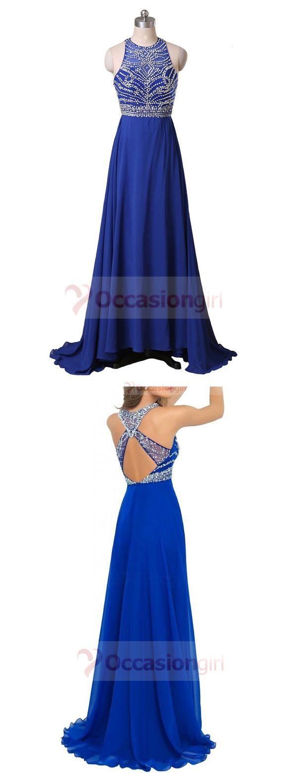 prom dress, 2016 prom dress, long prom dress, royal blue prom dress, chiffon prom dress, party dress, graduation dress, evening dress,formal dress