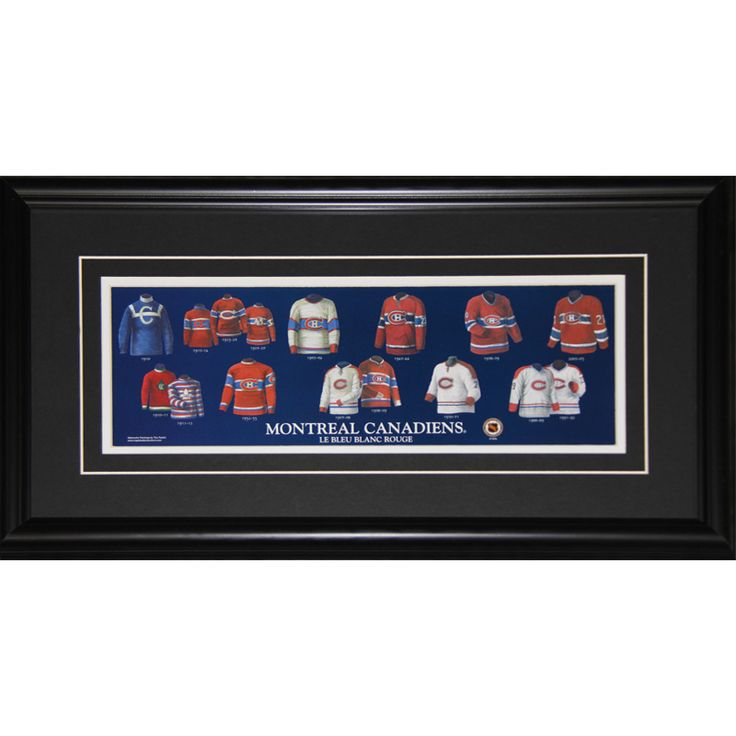 Midway Montreal Canadiens Jersey Evolution Frame