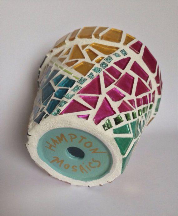 Pot de fleur mosaïque  Pot de fleur décoratif  cadeau pour