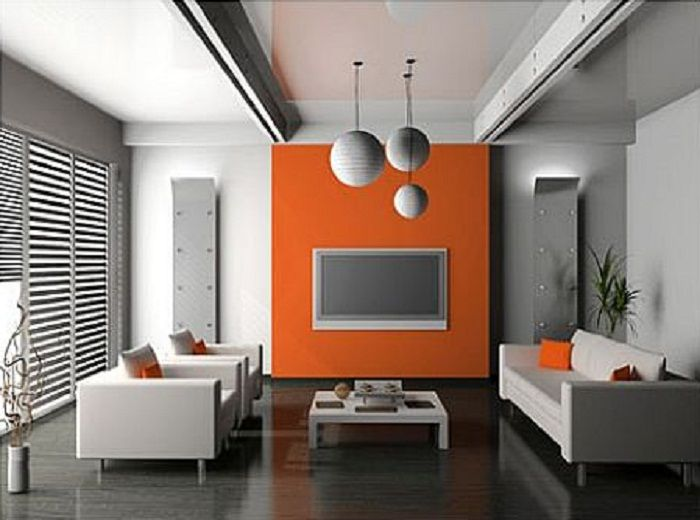 walls gray accent walls grey walls orange grey interior painting