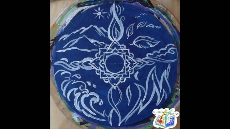 "Mandala ""I quattro elementi"" work in progress"