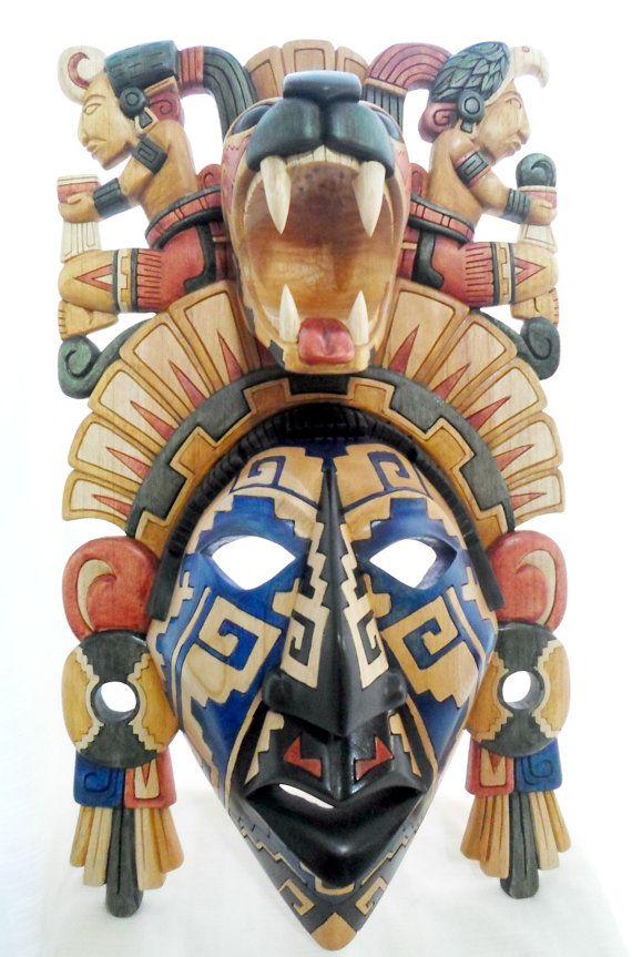 Made to Order Aztec Boy Warrior Mask In Cedar by TheFantasticAztec, $549.00