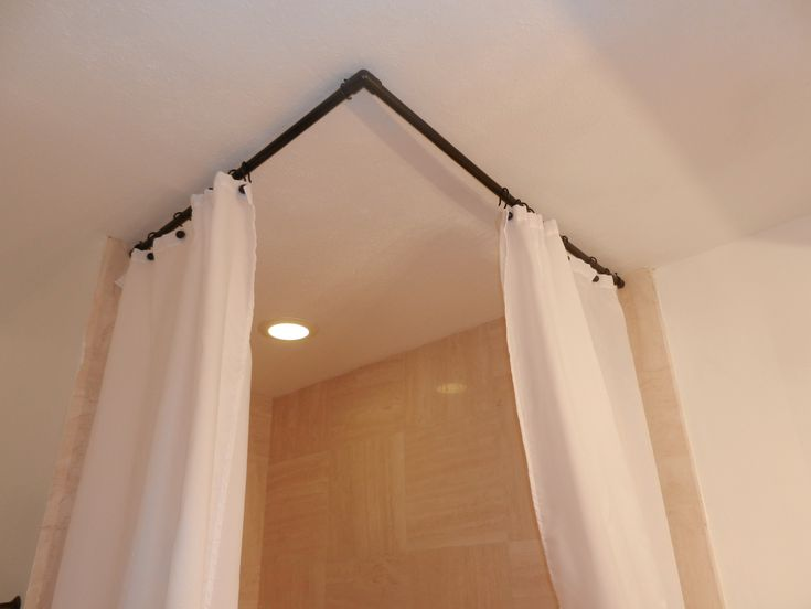 90 Degree Curved Shower Curtain Rod Corner Shower