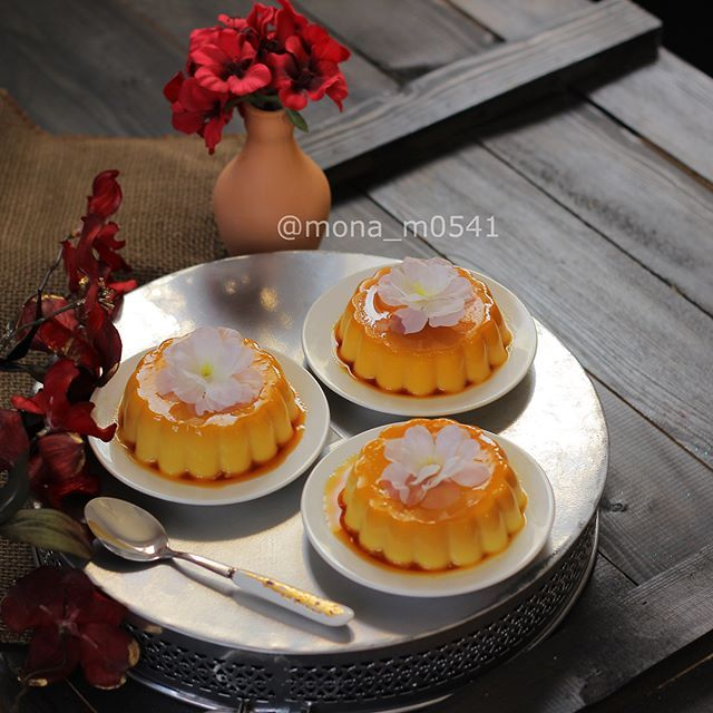كريم كراميل بدون فرن Cream Of Caramel Without Oven Caramel Creams Mini Cheesecake Sweets