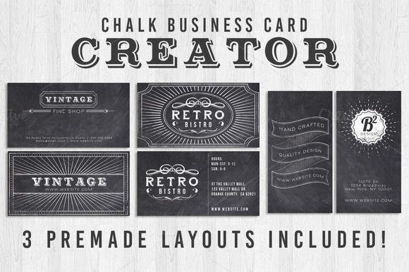 Chalk Business Card Creator by Lucion Creative on Creative Market