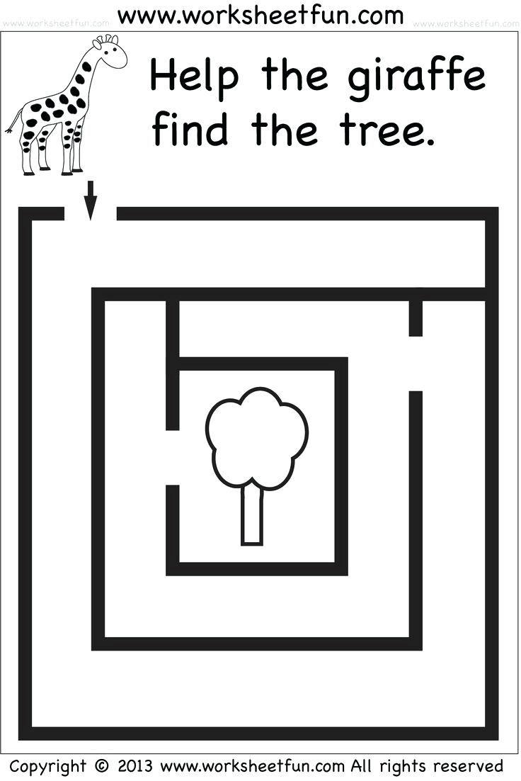 Preschool and Kindergarten Mazes - FREE Printable Worksheets ...