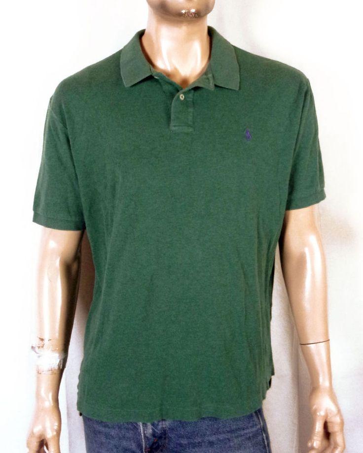 vtg 90s euc Polo Ralph Lauren Solid Green Polo Shirt pony sz XL #PoloRalphLauren #PoloRugby