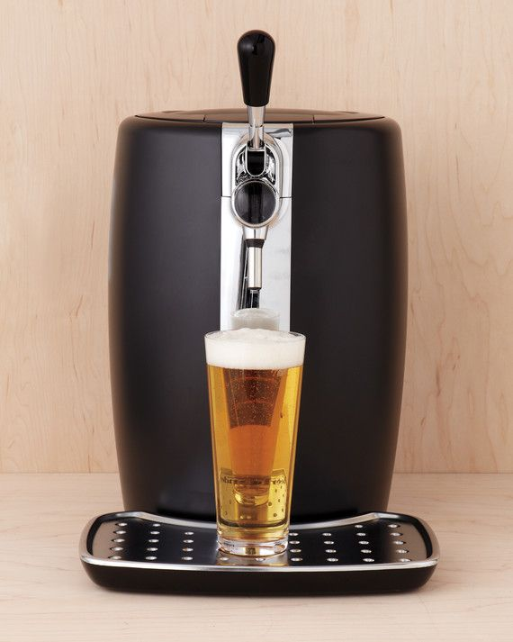 Bring the best part of the pub home and serve up draft beer from a five-liter keg housed in Krups beerTender b100 (surlatable.com).