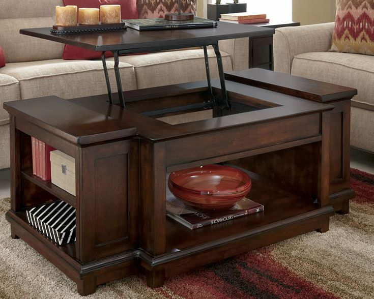 Rustic Lift Top Coffee Table| KF I would paint the sides a lighter color  like - 25+ Best Ideas About Lift Top Coffee Table On Pinterest Used