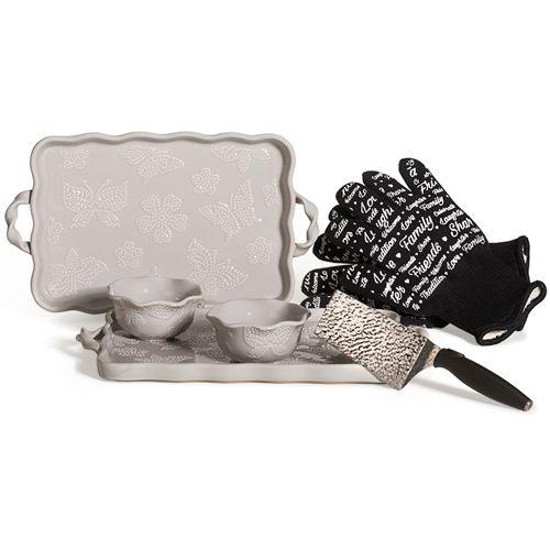 Grey All A Flutter Tara At Home Stoneware Bakeware Set #taraathome #temptations #stoneware #bakeware