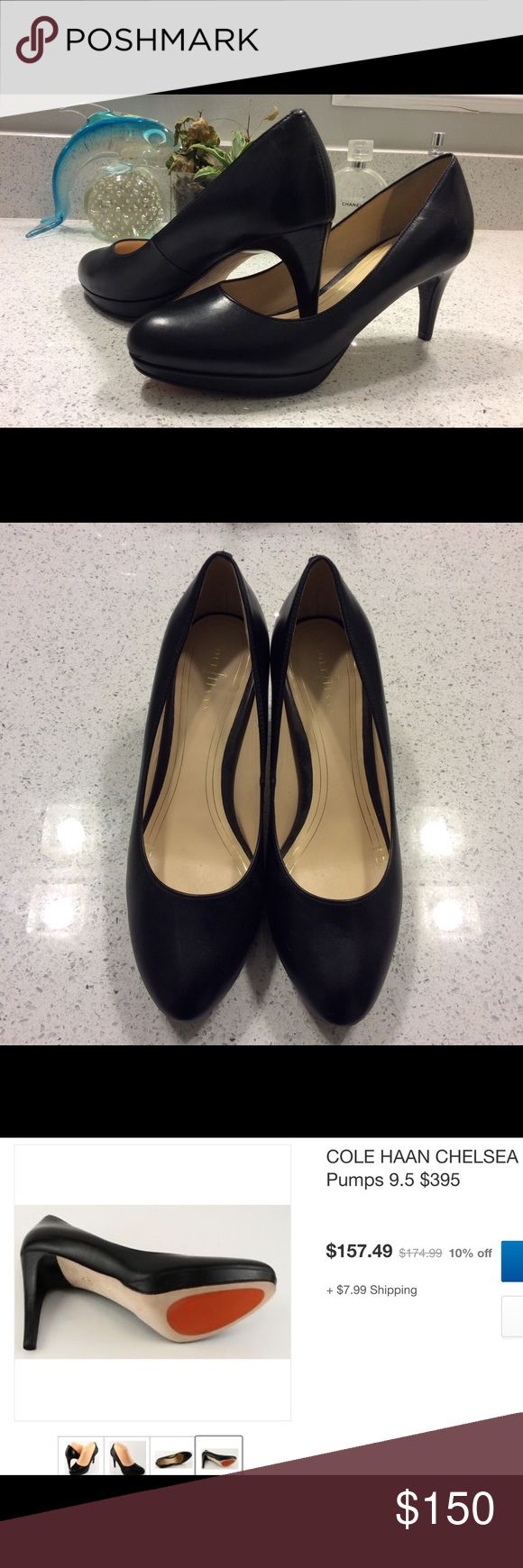 Cole Haan Chelsea Pumps 6.5 REDUCED Retail $395.....Chelsea Cole Haan....Nike Air.....Super comfortable.......Worn only a few times as seen in pic on bottom of shoes. Otherwise in perfect condition. Make me an offer. Cole Haan Shoes Heels