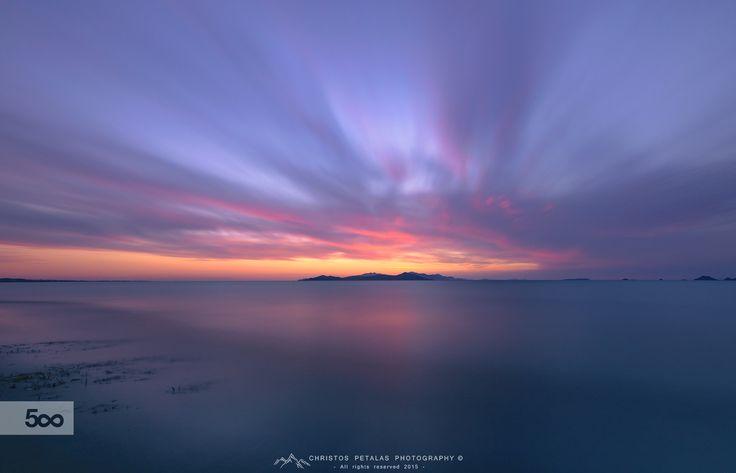 Purple sunset by Christos Petalas on 500px