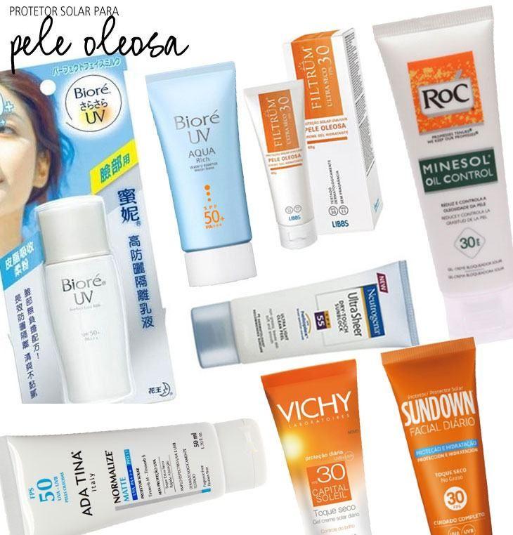 Tenho pele oleosa e sei bem a dificuldade que é achar um protetor solar para o rosto. Aqui tem uma seleção de produtos que não deixam a pele melequenta.
