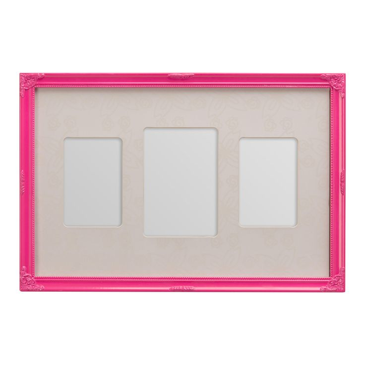 Multi 3 Photo Frame, Pink | ACHICA
