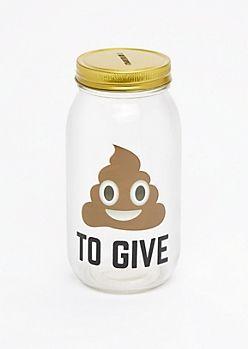 Poo To Give Mason Jar Bank