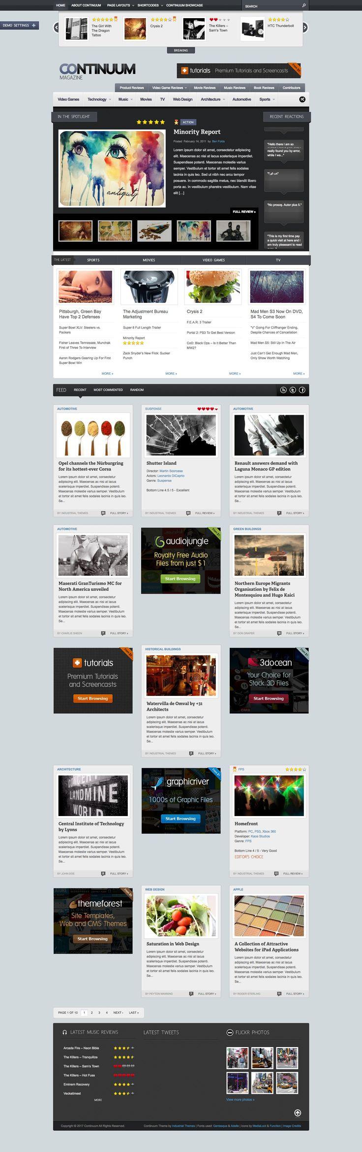 Continuum - Magazine Wordpress Theme - Blog / Magazine WordPress