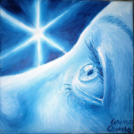 Watching a star #painting