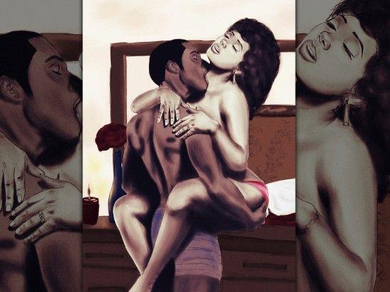 sensual lovers wallpaper