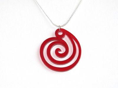 Riipus Spiral punainen, akryyliä