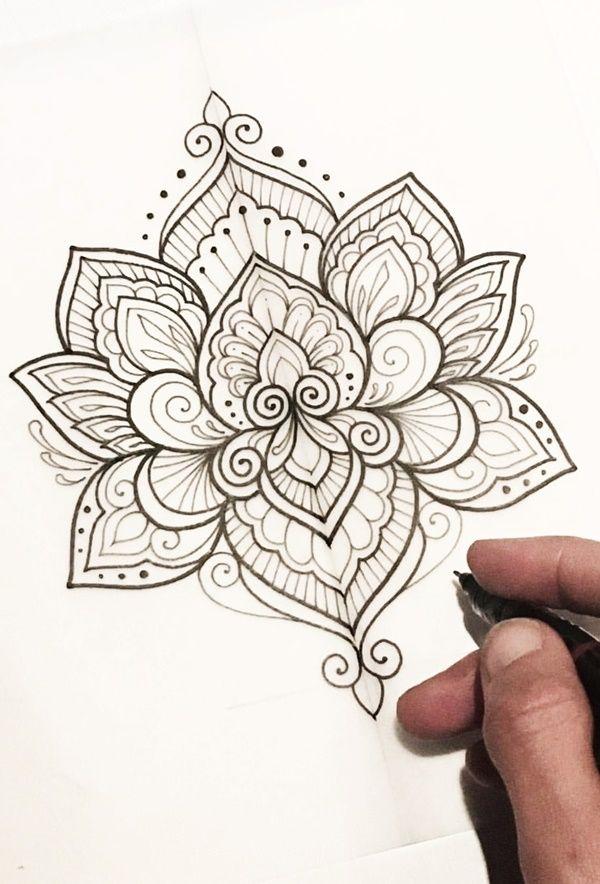 40 Simple Mandala Art Pattern And Designs Arts Lotus Mandala