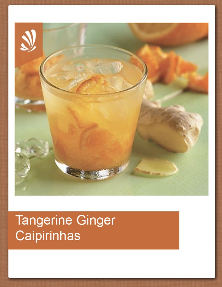 Tangerine-Ginger Caipirinhas Recipe — Dishmaps