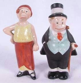Vintage Jiggs & Maggie salt and pepper shaker. Auction,  realized price $ 70