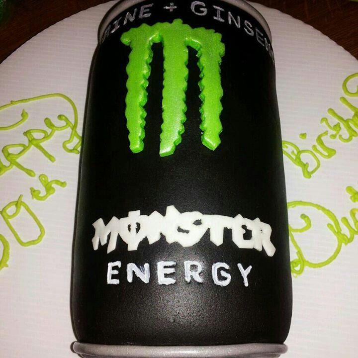 Monster Energy Cake Birthday Cake Ideas Pinterest