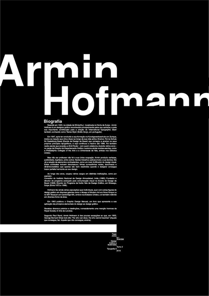 Armin Hofmann Poster by devilshark on deviantART