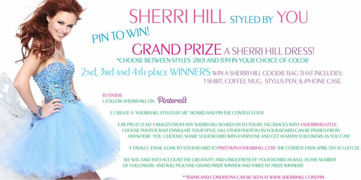 "CONTEST FLYER! Repin this flyer and start your ""SHERRI HILL Styled by ME"" board!"