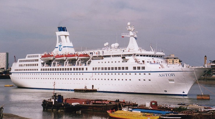Astor, Cruise ship 1984 - Went through Force 12 Hurricane in the Bay of Biscay