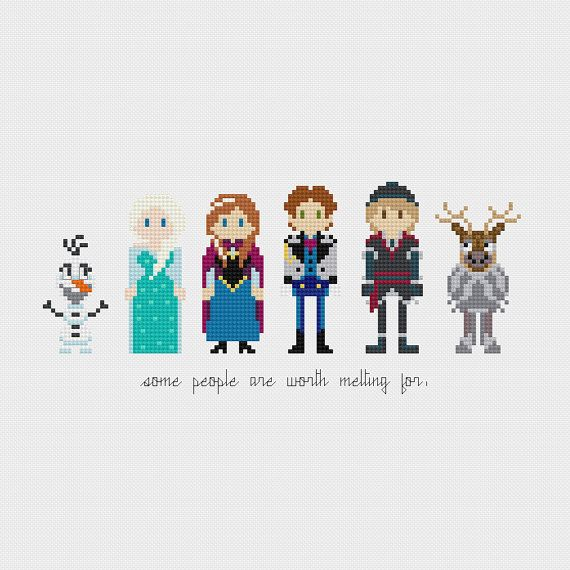 Disney Princess Frozen Cross Stitch Pattern by pixelsinstitches, $6.00