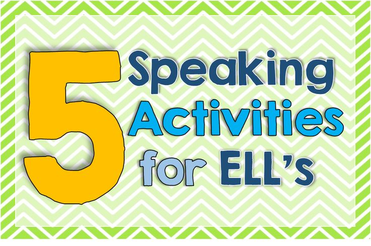 5 Speaking Activities for English Language Learners