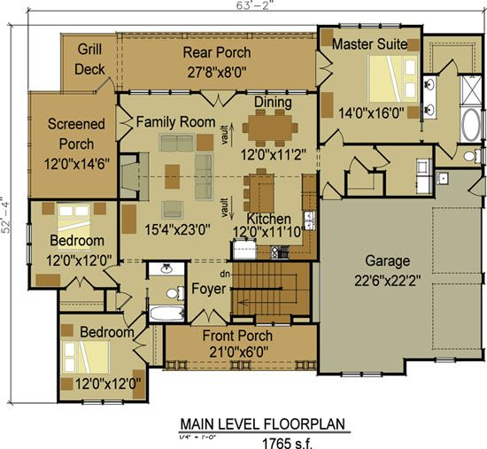17 best ideas about 3 bedroom house on pinterest the for Basement floor plans 2000 sq ft