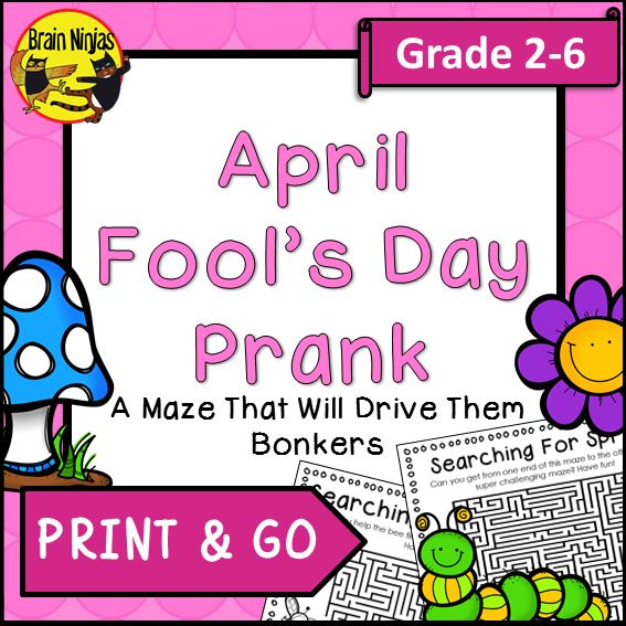 Prank your students with this FREE maze that has no exit.