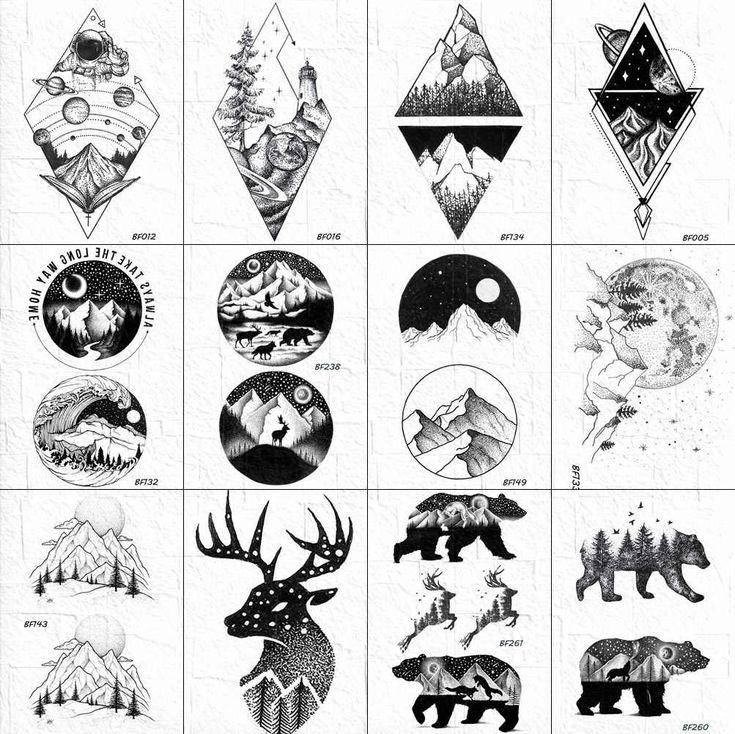 Geometric Mountain, Geometric Nature, Tattoo Sticker, Arm Art, Flash Art, I Tattoo, Tatoos, Tattoo Designs, Piercings