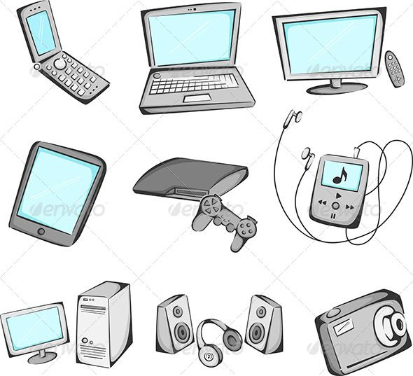Electronics items icons  #GraphicRiver         A vector illustration of electronic items icons. Vector illustration, zip archive contain eps 10 and high resolution jpeg.     Created: 23October13 GraphicsFilesIncluded: VectorEPS HighResolution: No Layered: No MinimumAdobeCSVersion: CS Tags: cellphone #cellphone #computer #designelement #digitalcamera #drawing #electronics #equipment #gadget #gameconsole #graphics #headphones #icons #illustration #internet #isolated #laptop #mobilephone…