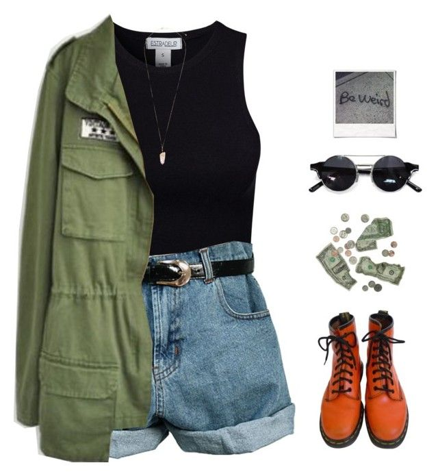 """""""SERIES 3 // grunge [closed]"""" by theonlynewgirl ❤ liked on Polyvore featuring Estradeur, House of Holland, Retrò, Dr. Martens, Eloquii, xO Design, Polaroid and cheys80kgiveaway"""