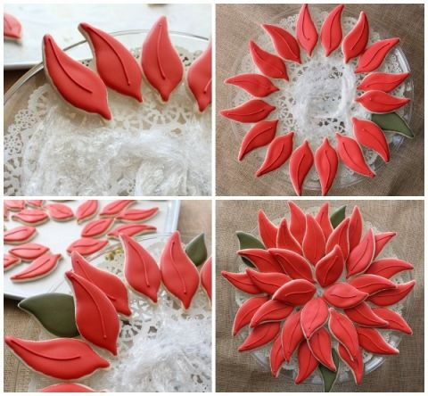 Easy Poinsettia Platter 4