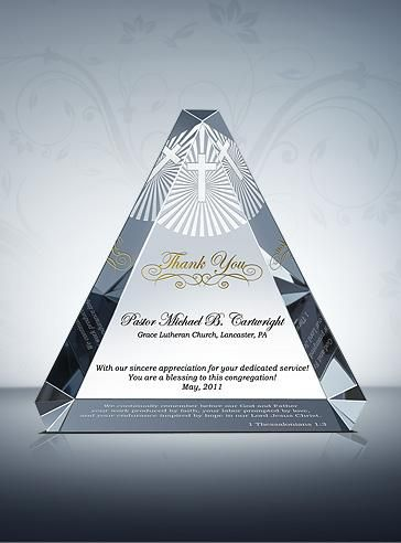 Trinity Appreciation Plaque - DIY Awards Mobile