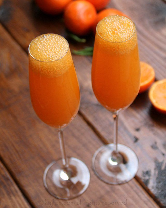 How to make mandarin mimosas