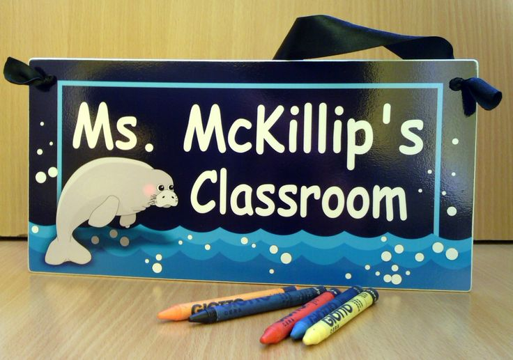 #male teacher christmas gift door #sign classroom decor ocean #manatee themed class plaque – PL423