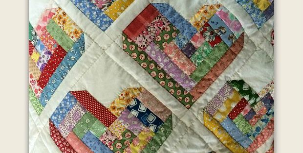 Customize the Block Size to Fit Your Vision for This Quilt! We instantly fell in love with this gorgeous quilt made of scrappy Log Cabin Hearts. It took a good amount of hunting but we finally found a pattern you can customize to make your own. The quilt was originally found in a fabric store …