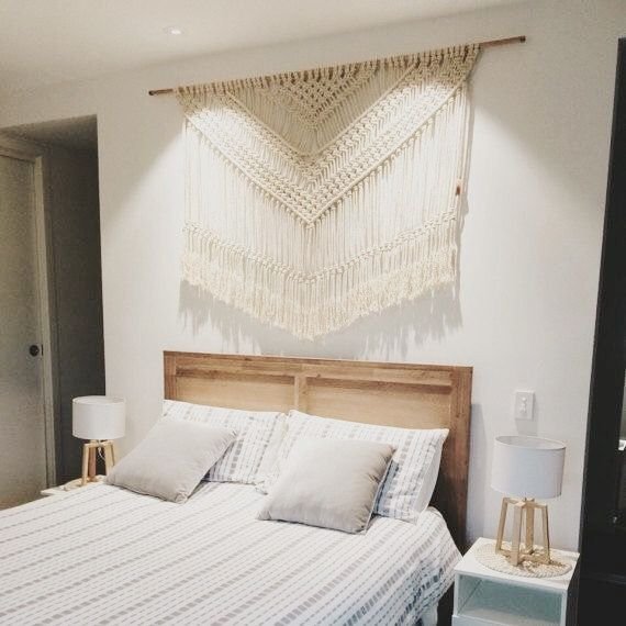 Pin By Manzard9 On Bed Macrame Headboard Macrame Wall Hanger Macrame Wall Hanging Patterns