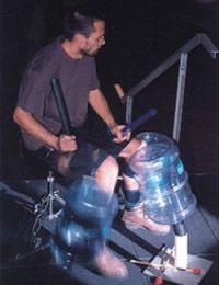 Adrian and water-cooler drumkit