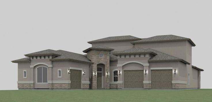 Cleveland texas chief architect home designer house plans for Stucco home plans