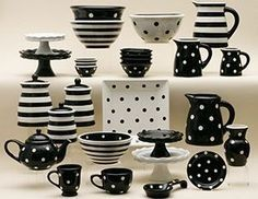 Black and white porcelane pieces i loved the red and white also